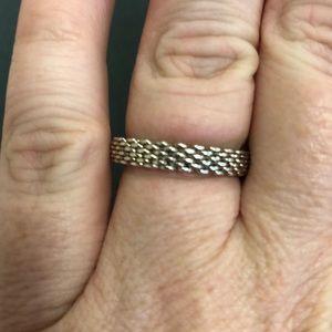 Tiffany basket weave ring